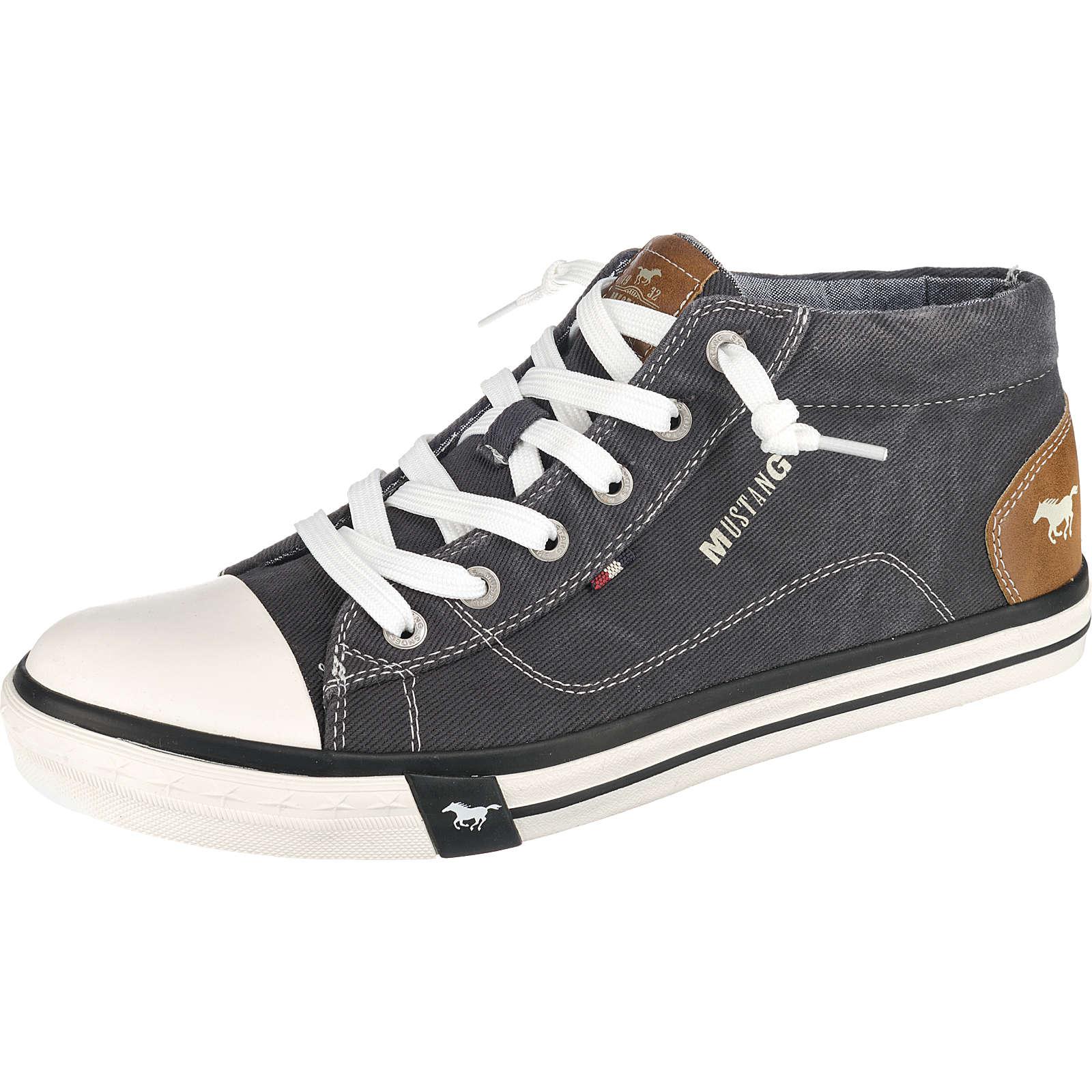 MUSTANG Sneakers High schwarz Herren Gr. 45