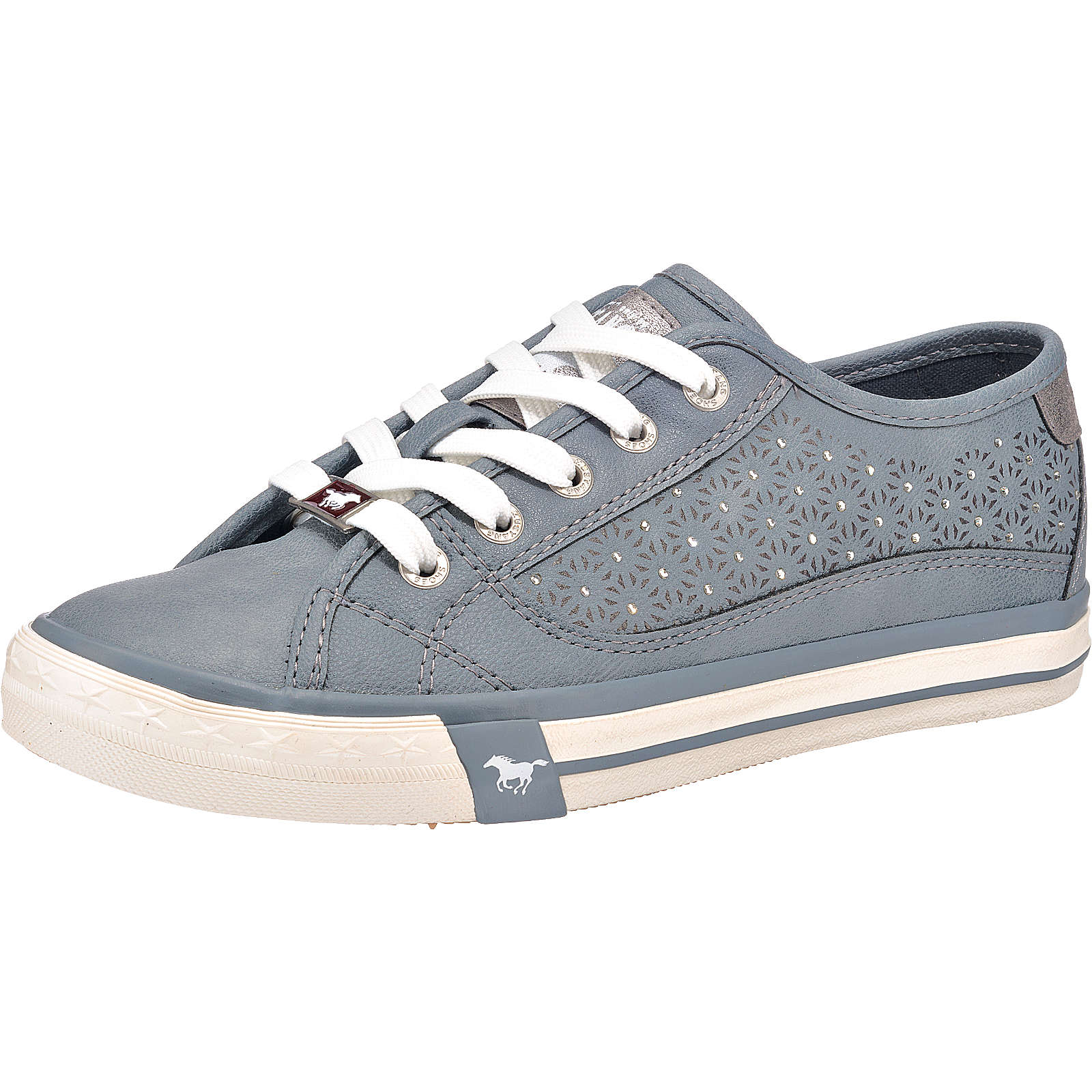 MUSTANG Sneakers Low blau Damen Gr. 37