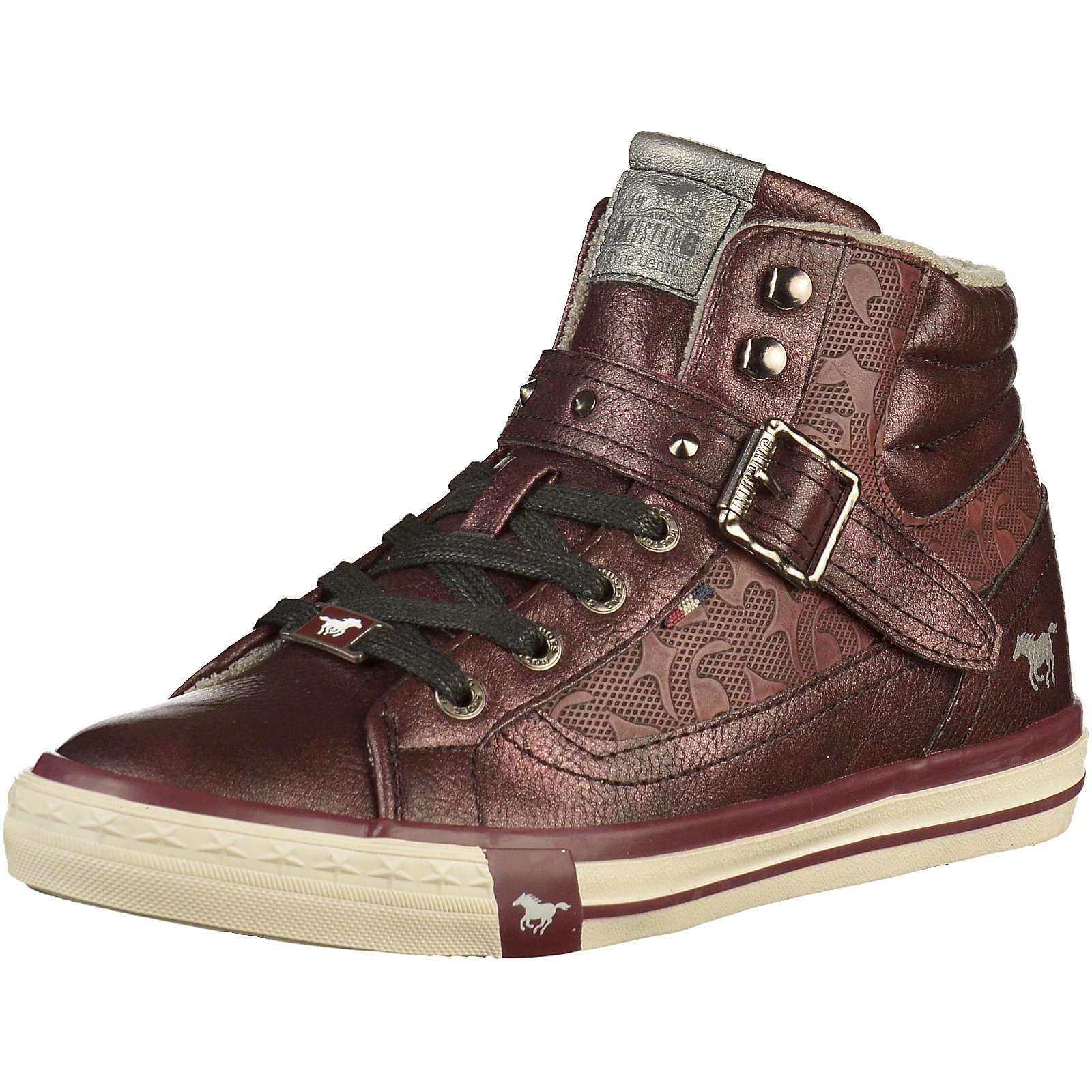 MUSTANG Sneakers Low für Mädchen bordeaux Mädchen Gr. 42