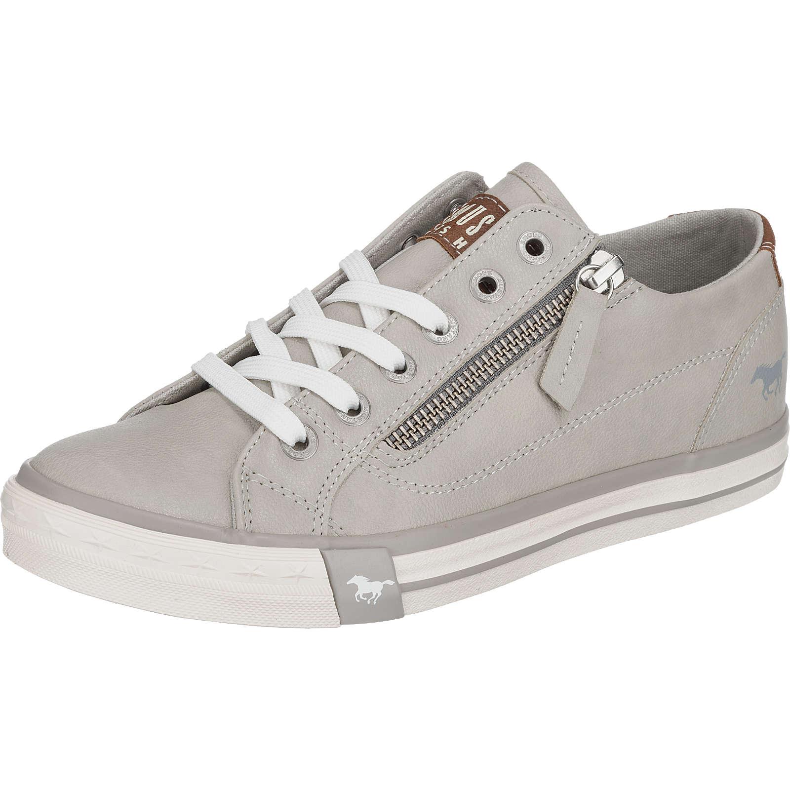 MUSTANG Sneakers Low hellgrau Damen Gr. 36