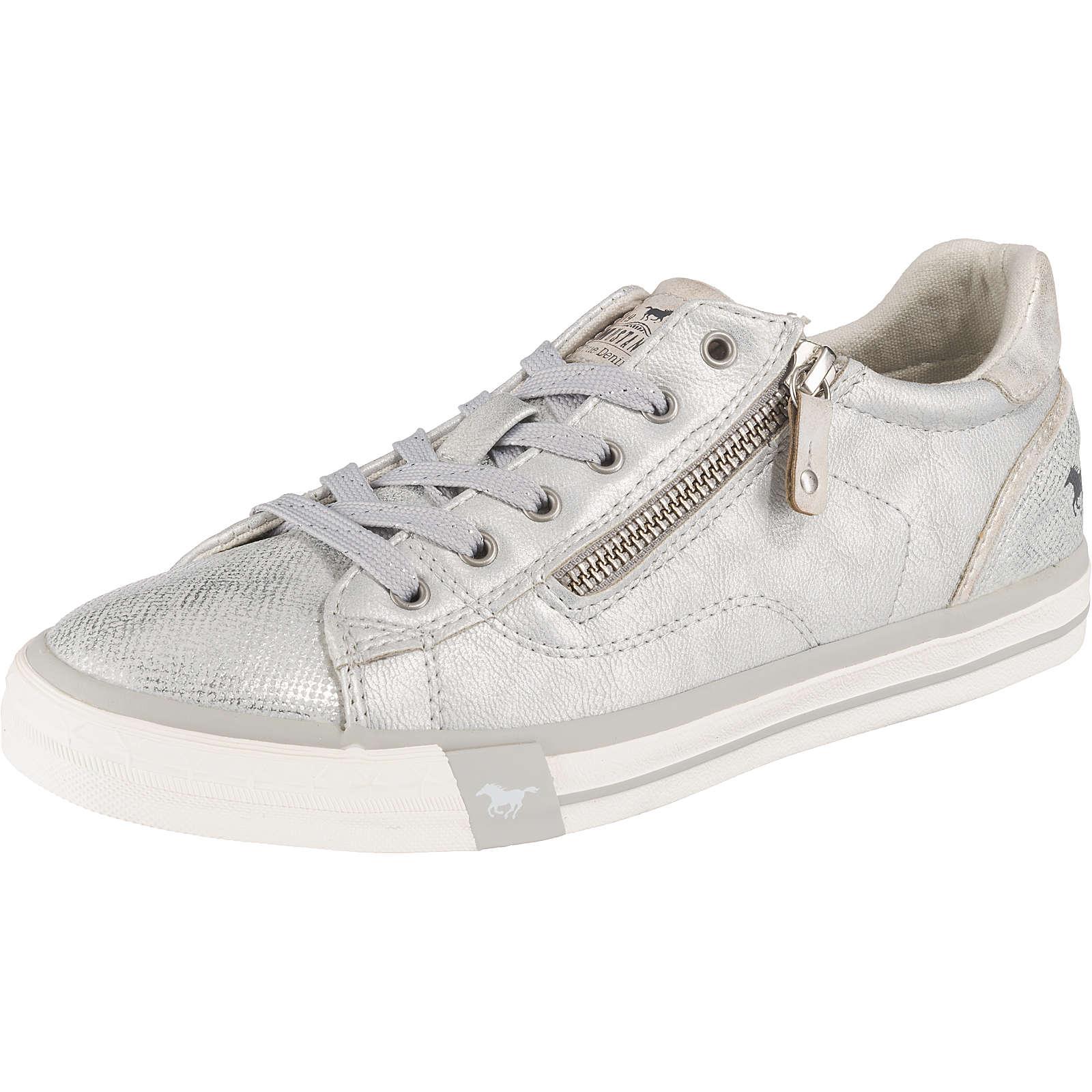 MUSTANG Sneakers Low silber Damen Gr. 43