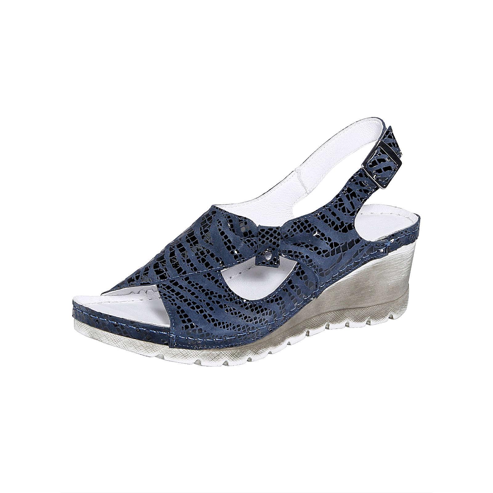 Naturläufer Sandale dunkelblau Damen Gr. 40
