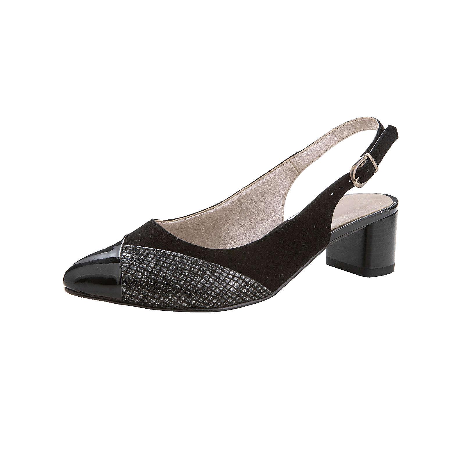 Naturläufer Sandale schwarz Damen Gr. 38