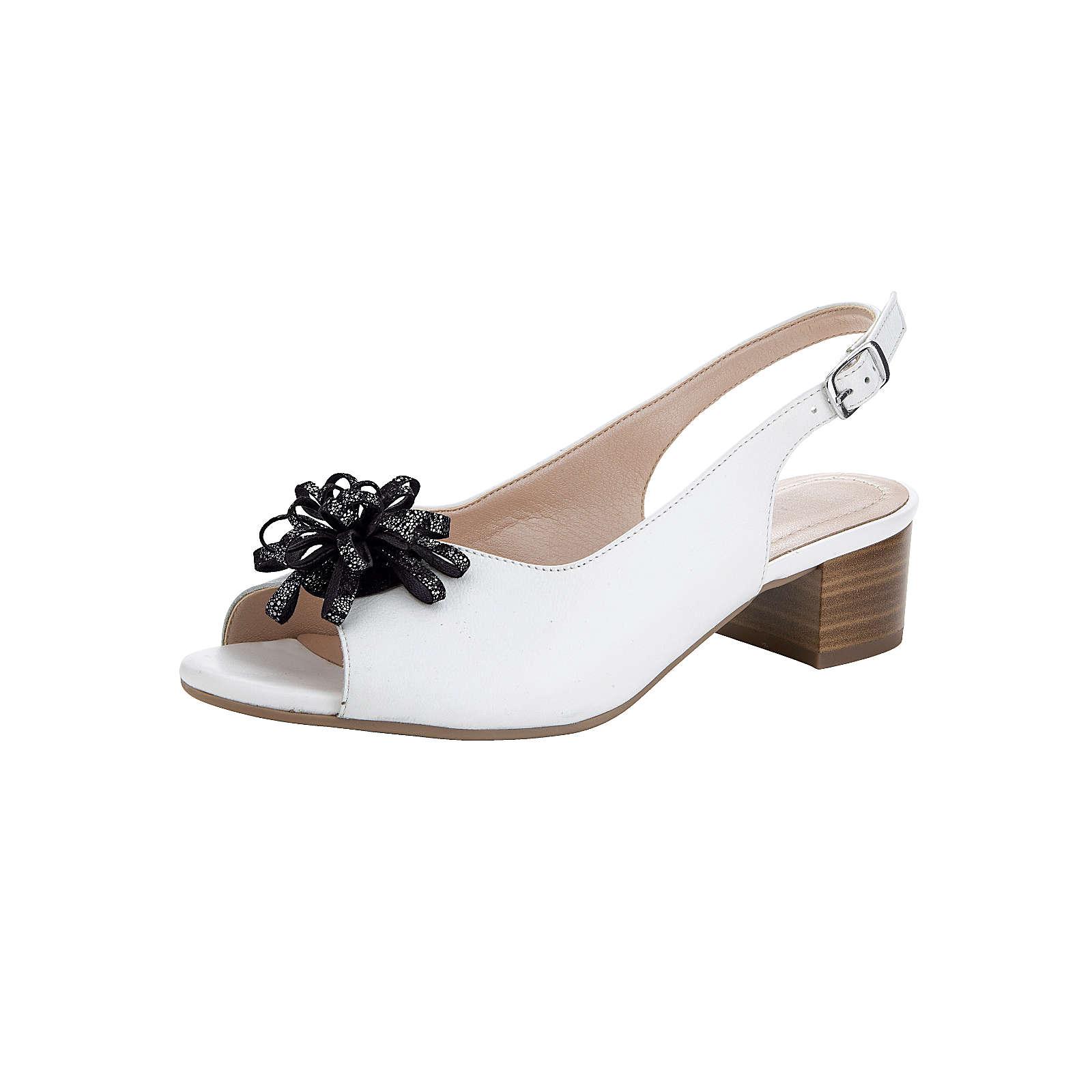 Naturläufer Sandale weiß Damen Gr. 36,5