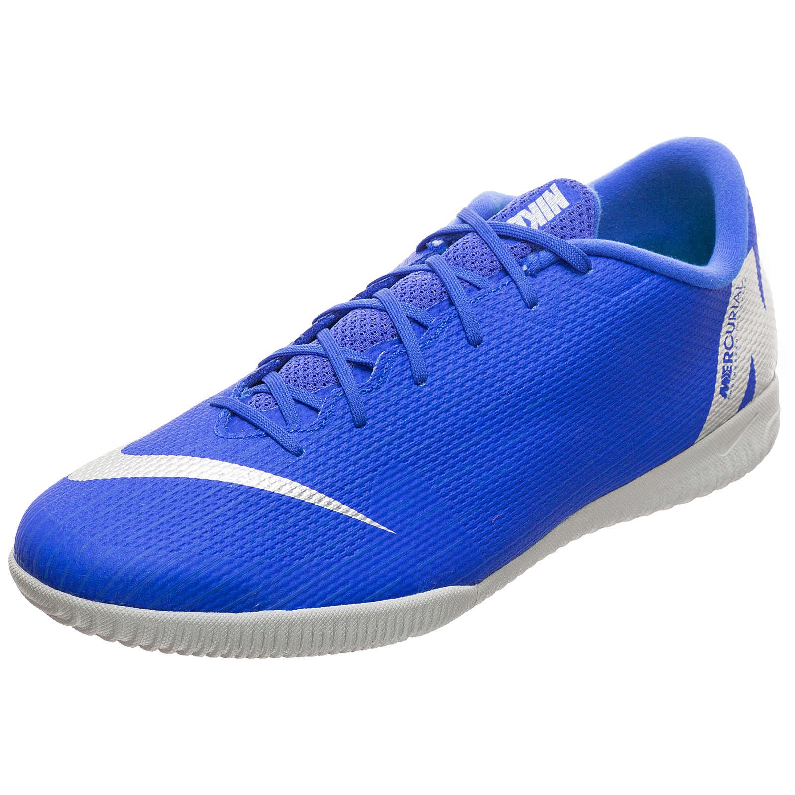 Nike Performance Mercurial VaporX XII Academy Indoor Fußballschuh Herren blau/silber Herren Gr. 38,5