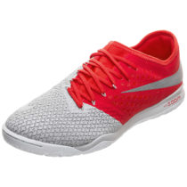 Nike Performance Nike Hypervenom PhantomX III Indoor Fußballschuh grau/rot Herren Gr. 42