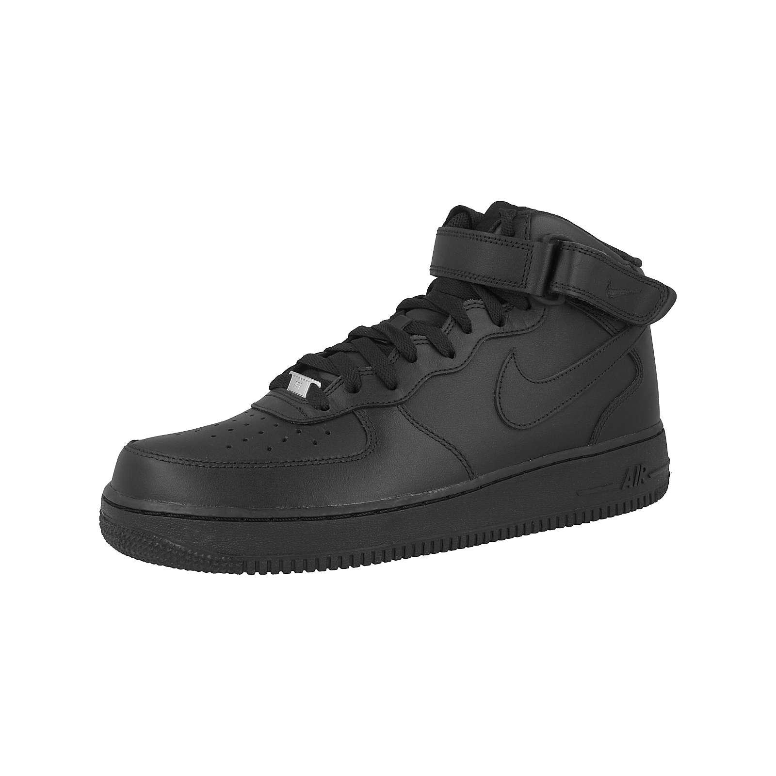 Nike Sportswear Air Force 1 MID ´07 Sneakers High schwarz Herren Gr. 42,5