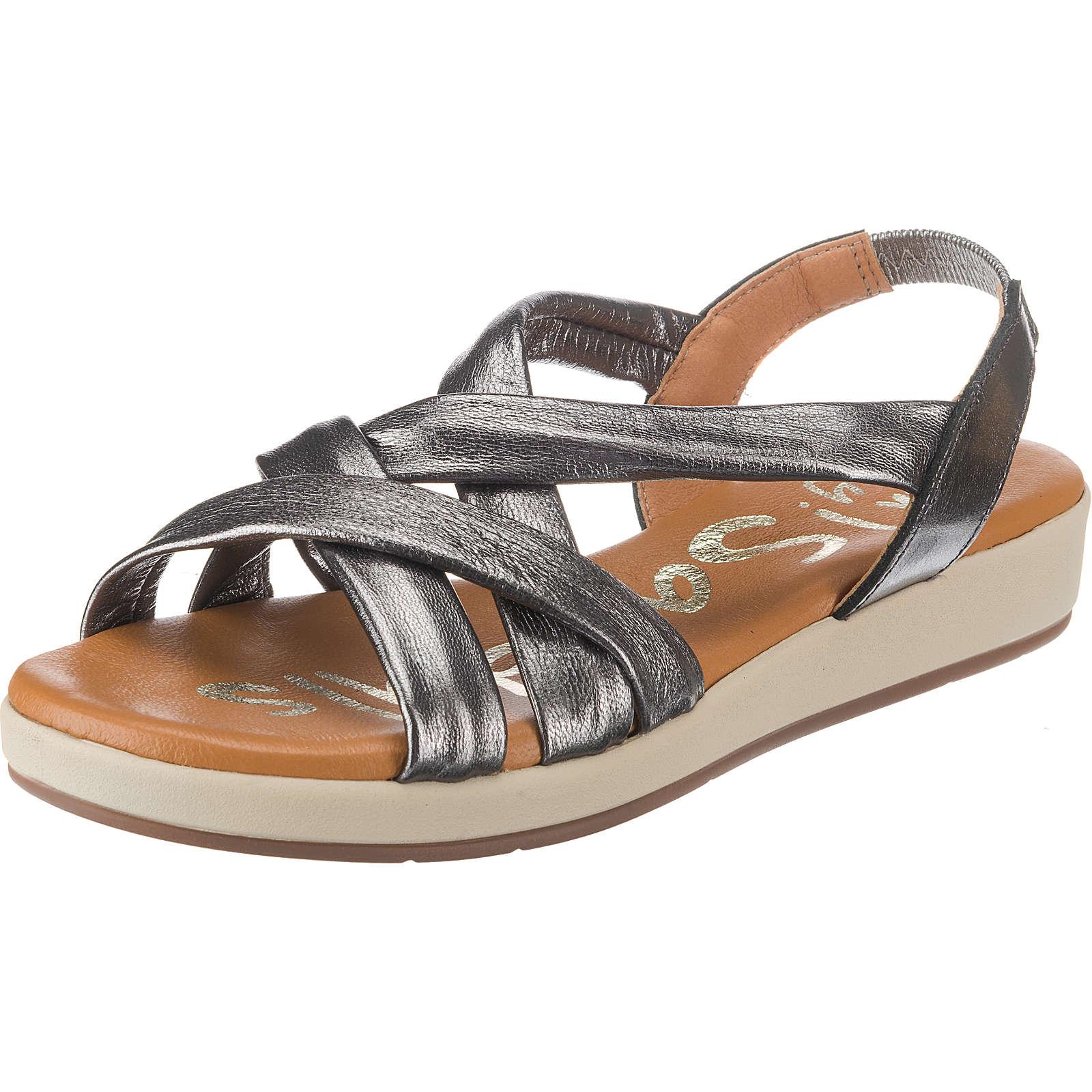 Oh! my Sandals Riemchensandalen silber Damen Gr. 38