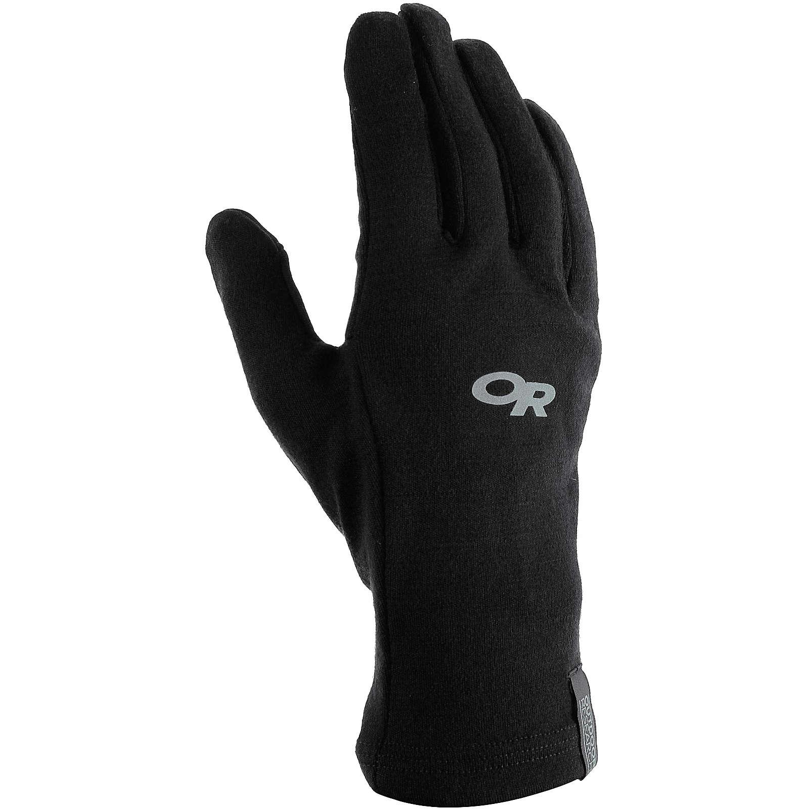 Outdoor Research Outdoorhandschuhe Wooly Sensor Liners Fingerhandschuhe schwarz Damen
