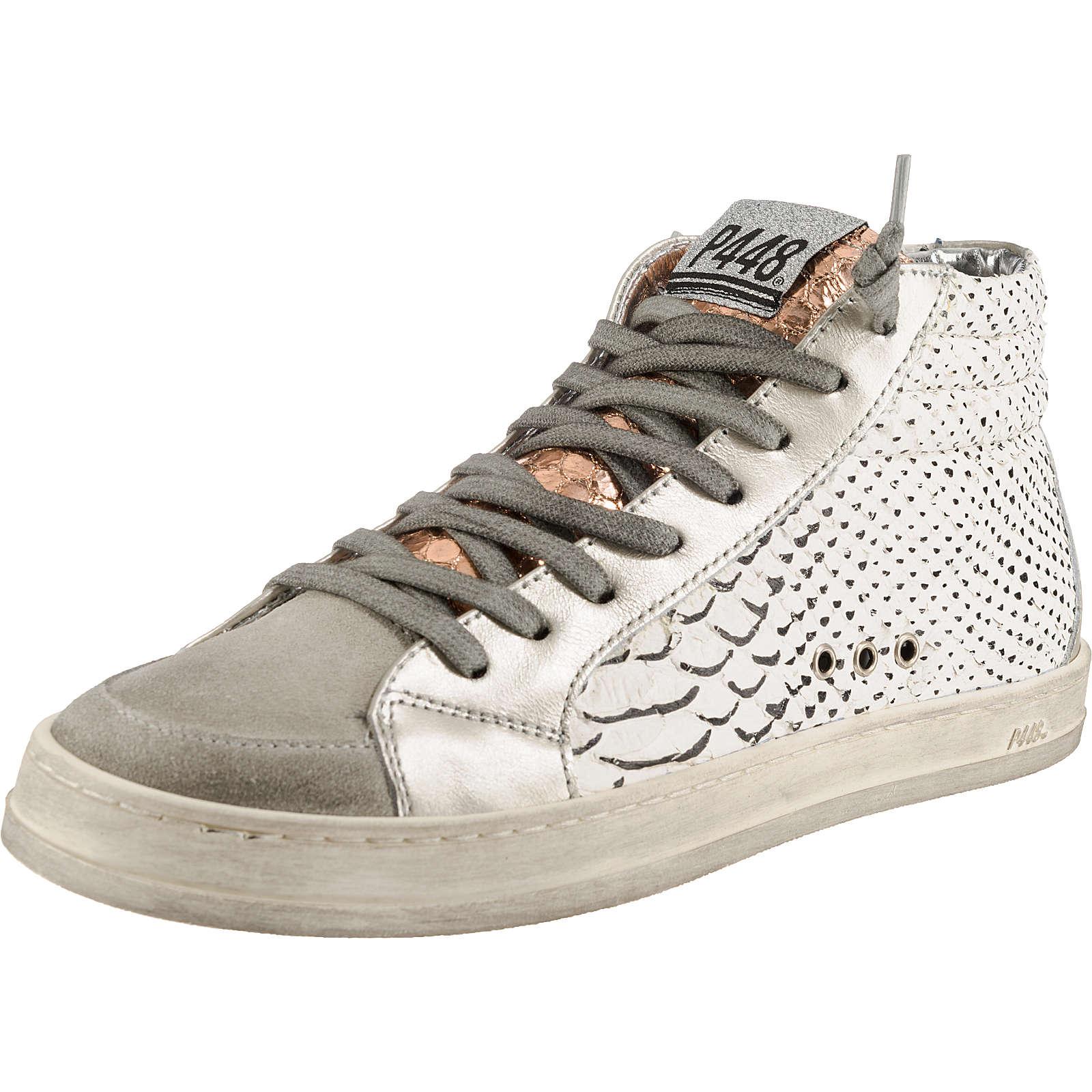 P448 Sneakers High weiß-kombi Damen Gr. 41