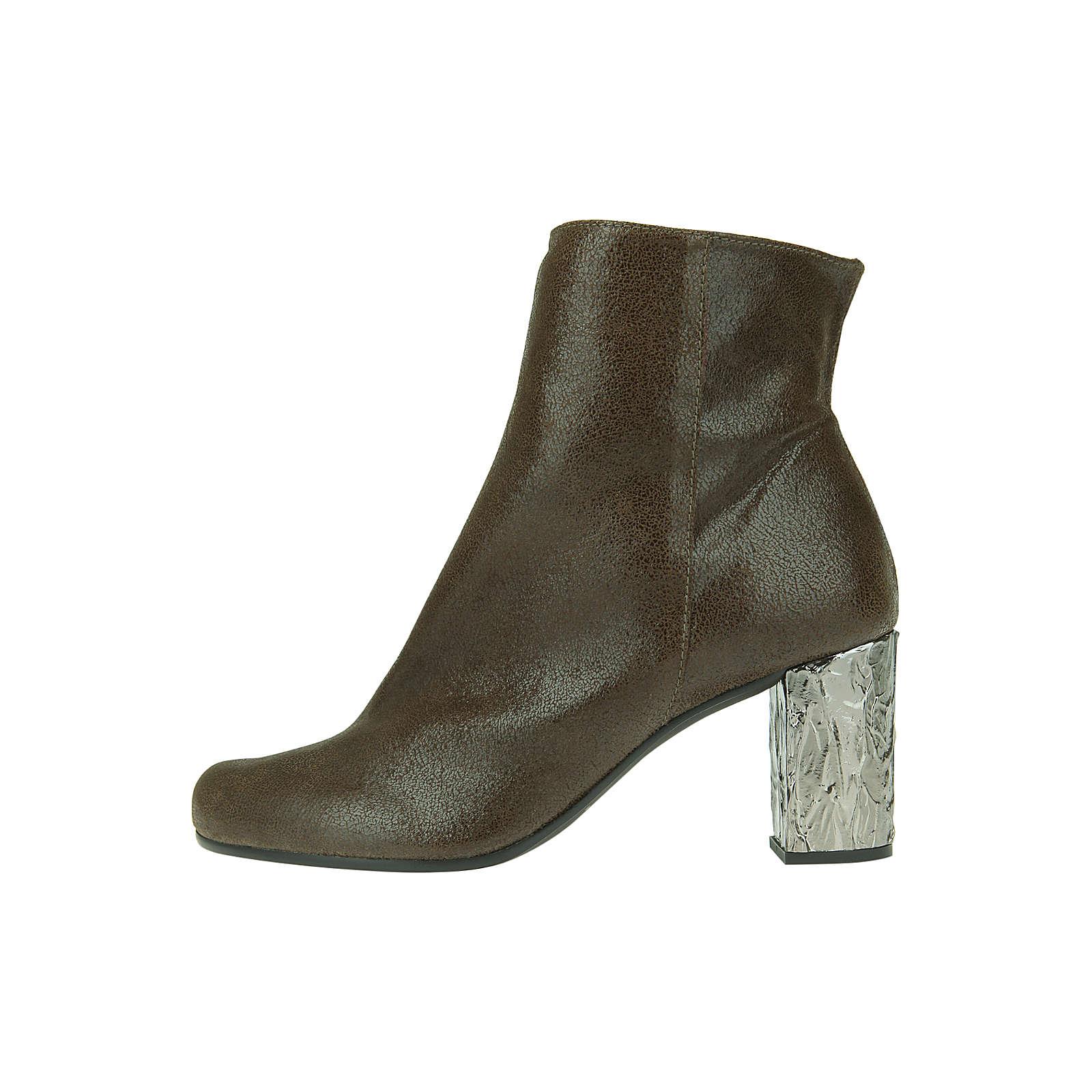Paco Gil Stiefelette ADORE/JANINE aus Glattleder Klassische Stiefeletten khaki Damen Gr. 39