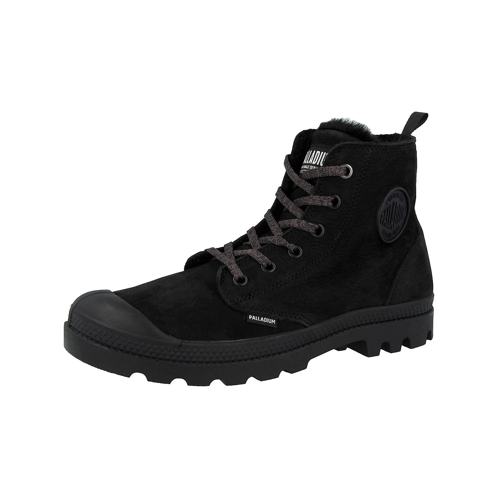 Palladium Schuhe Pampa Hi Zip WL Leather Schnürstiefeletten schwarz Damen Gr. 37