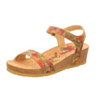 PANAMA JACK Keil-Sandalette Capri Cork B1 Klassische Sandaletten rot Damen Gr. 40