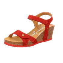 PANAMA JACK Keil-Sandalette Julia Menorca B1 Klassische Sandaletten rot Damen Gr. 38