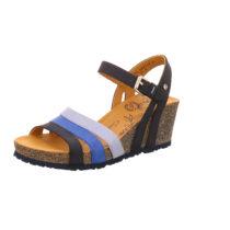 PANAMA JACK Keil-Sandalette Vita Basics B3 Klassische Sandaletten blau Damen Gr. 40