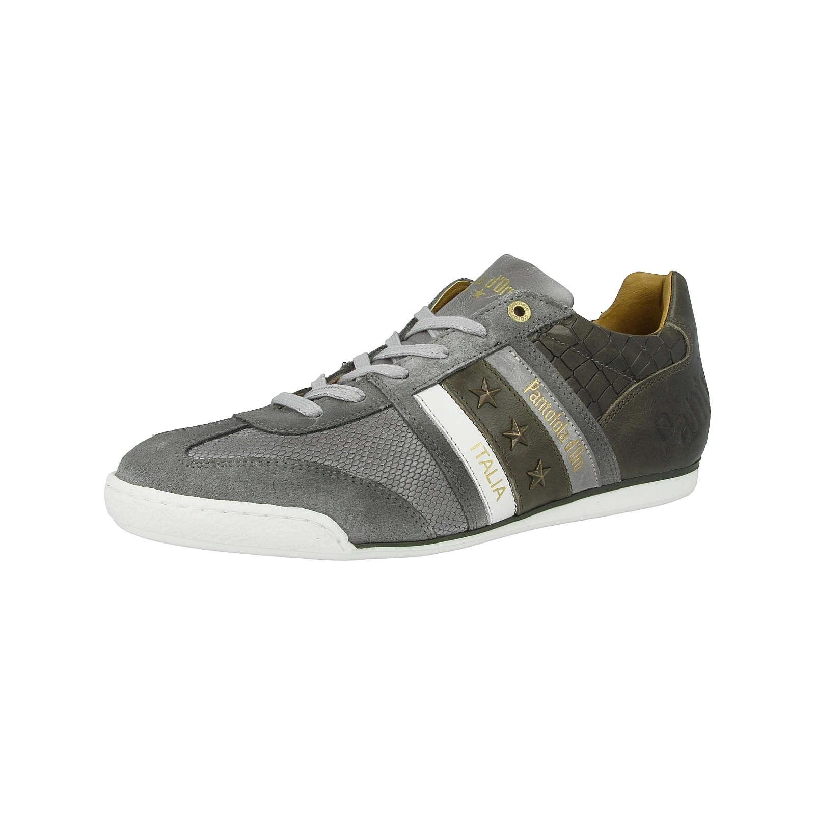 Pantofola d´Oro Schuhe Imola Crocco Uomo Low Schnürschuhe grau Herren Gr. 42