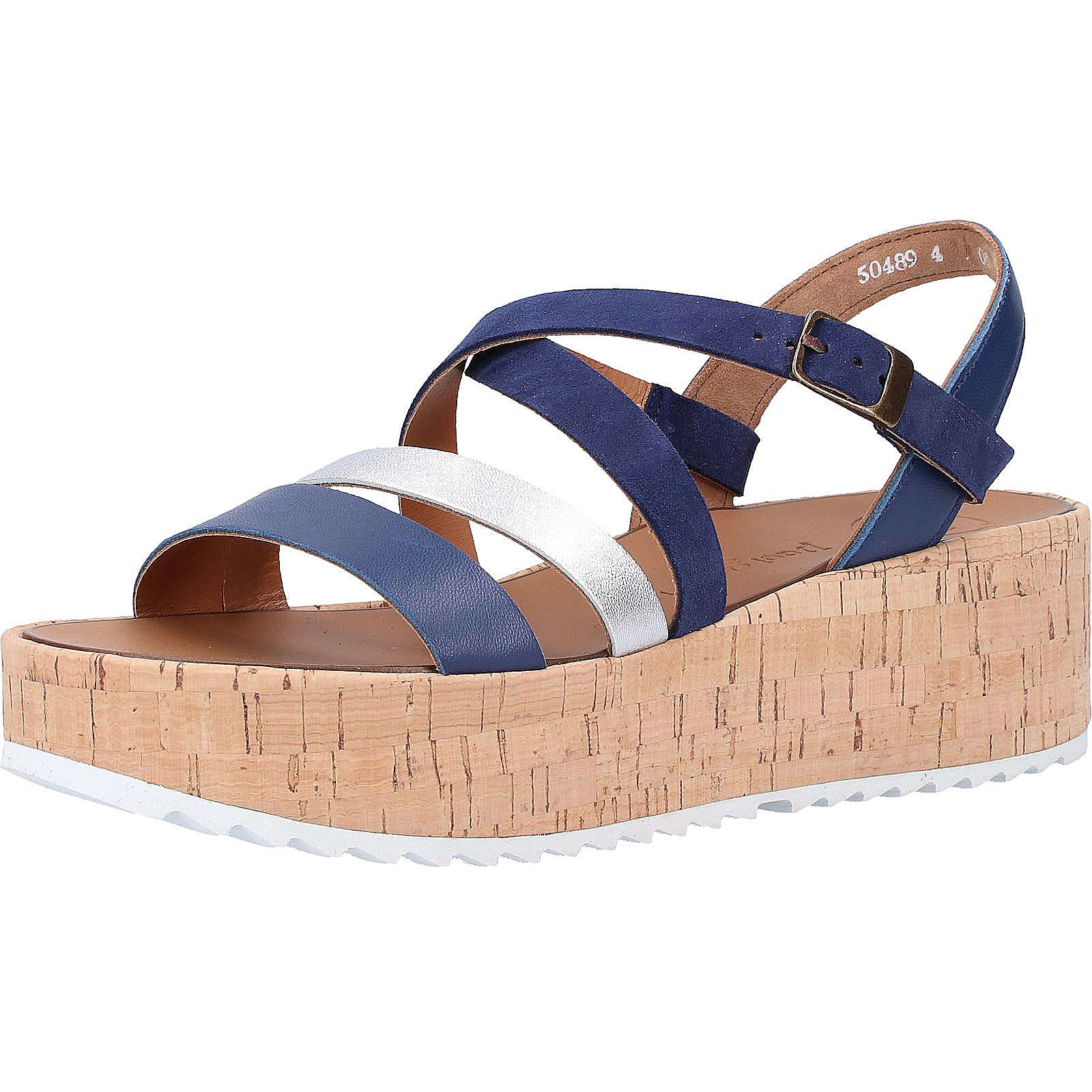 Paul Green Sandalen Klassische Sandaletten blau Damen Gr. 39