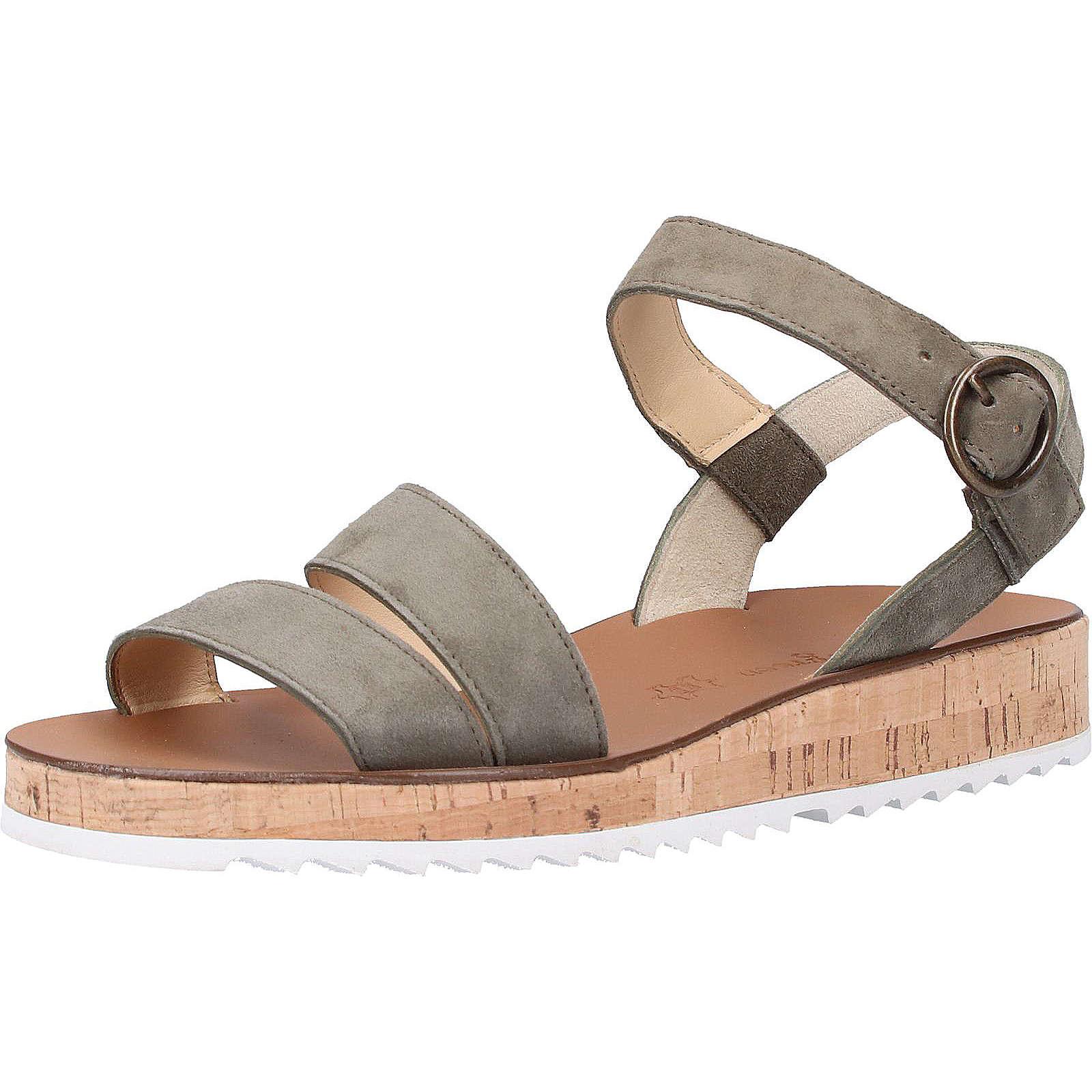 Paul Green Sandalen Klassische Sandaletten khaki Damen Gr. 39