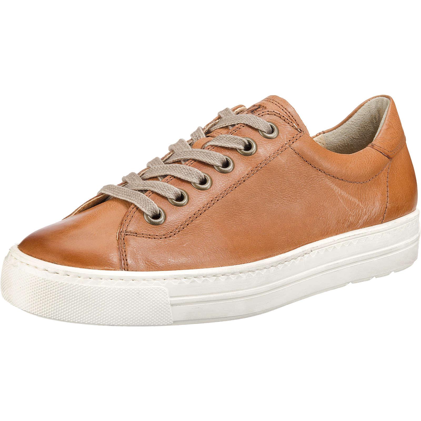Paul Green Sneakers Low cognac Damen Gr. 39