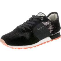 Pepe Jeans VERONA W NEW SEQUINS 2 Sneakers Low schwarz Damen Gr. 36