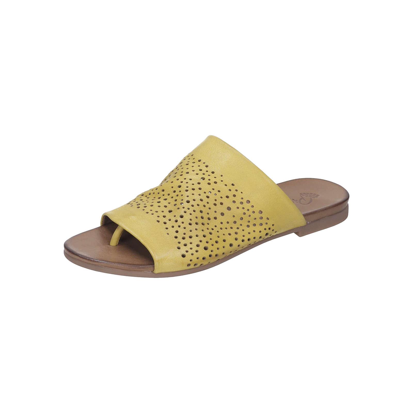 Piazza Damen Pantolette Pantoletten gelb Damen Gr. 37
