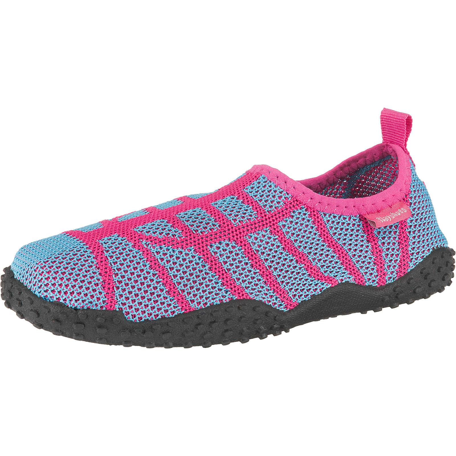 Playshoes Strick Badeschuh für Mädchen pink Mädchen Gr. 18/19