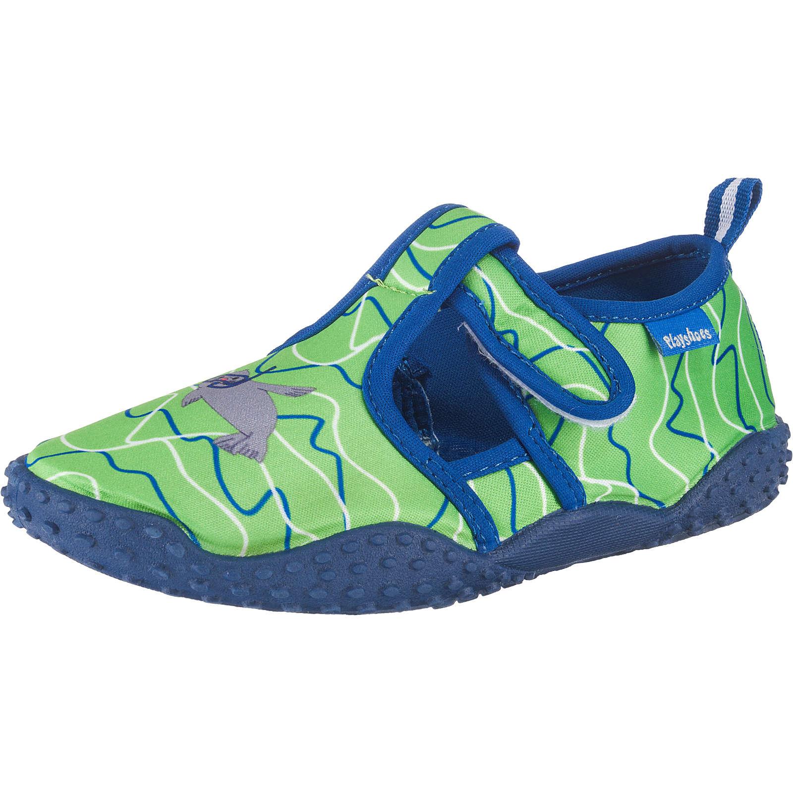 Playshoes UV-Schutz Badeschuhe ROBBE für Jungen grün Junge Gr. 28/29