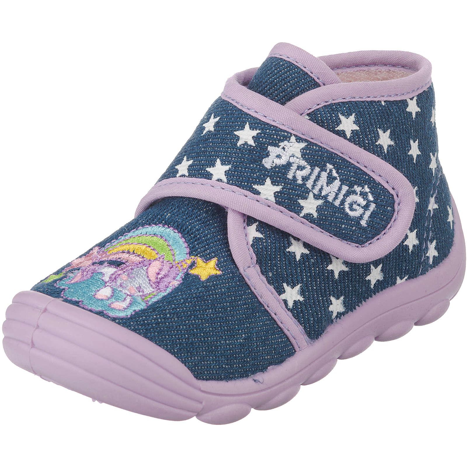 PRIMIGI Baby Hausschuhe für Mädchen, Sterne blue denim Mädchen Gr. 22