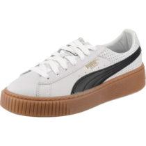 PUMA Basket Platform Perf Gum Sneakers weiß-kombi Damen Gr. 38