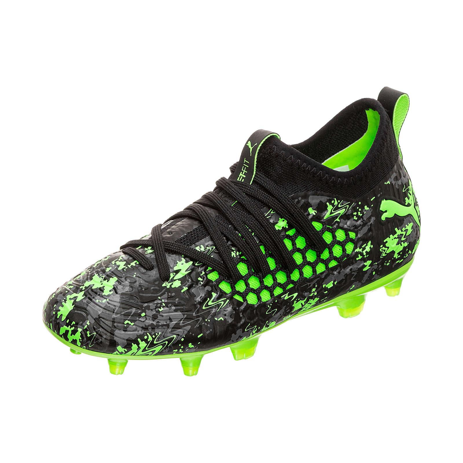 PUMA Future 19.3 NETFIT FG/AG Fußballschuh Kinder schwarz/grün Gr. 34