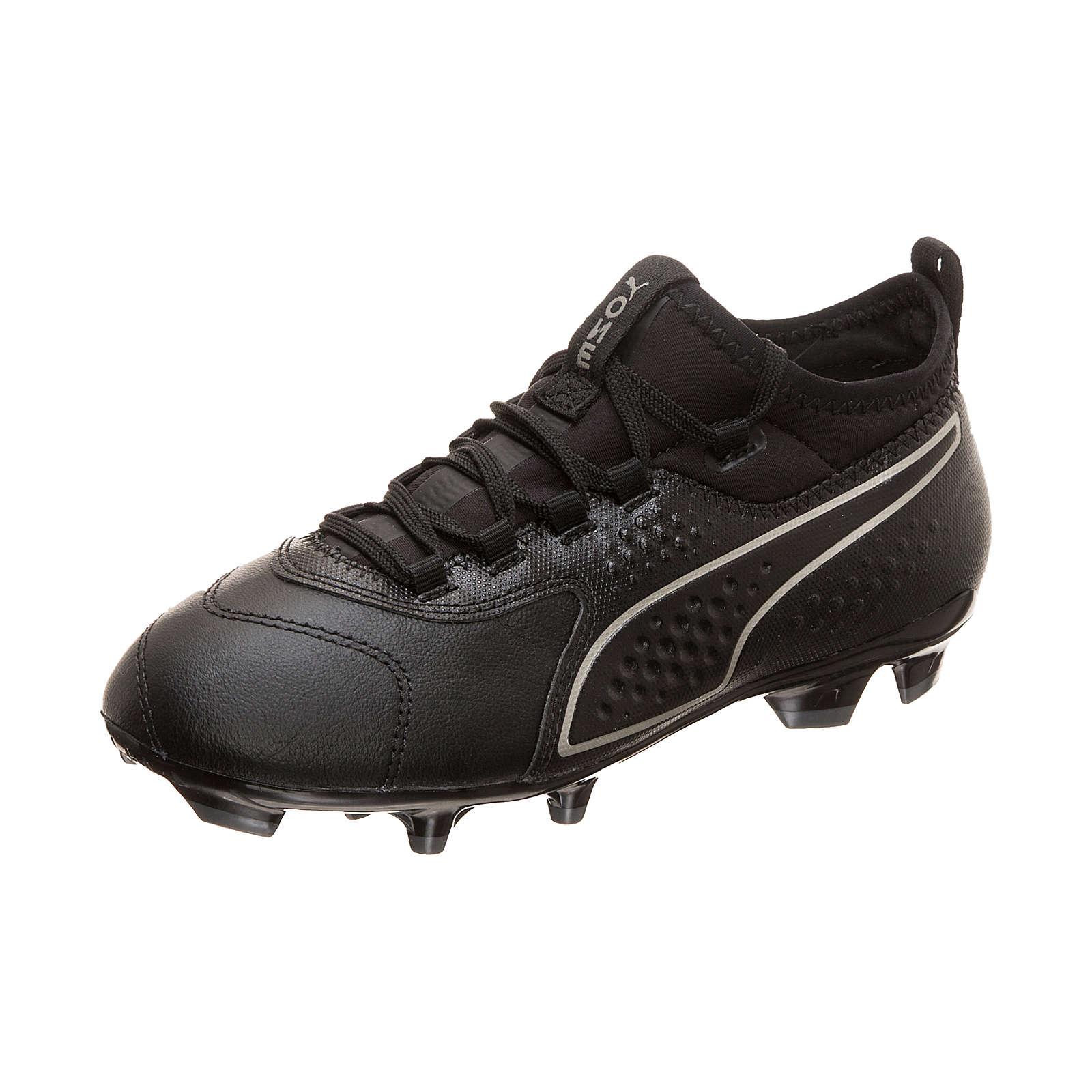 PUMA Kinder Fußballschuhe ONE 3 Leather AG schwarz Gr. 38