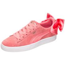 PUMA Suede Bow Sneakers Low rosa Damen Gr. 38,5