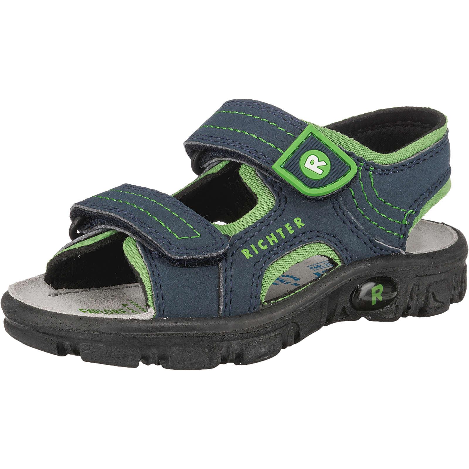 RICHTER Sandalen für Jungen blau/grün Junge Gr. 31