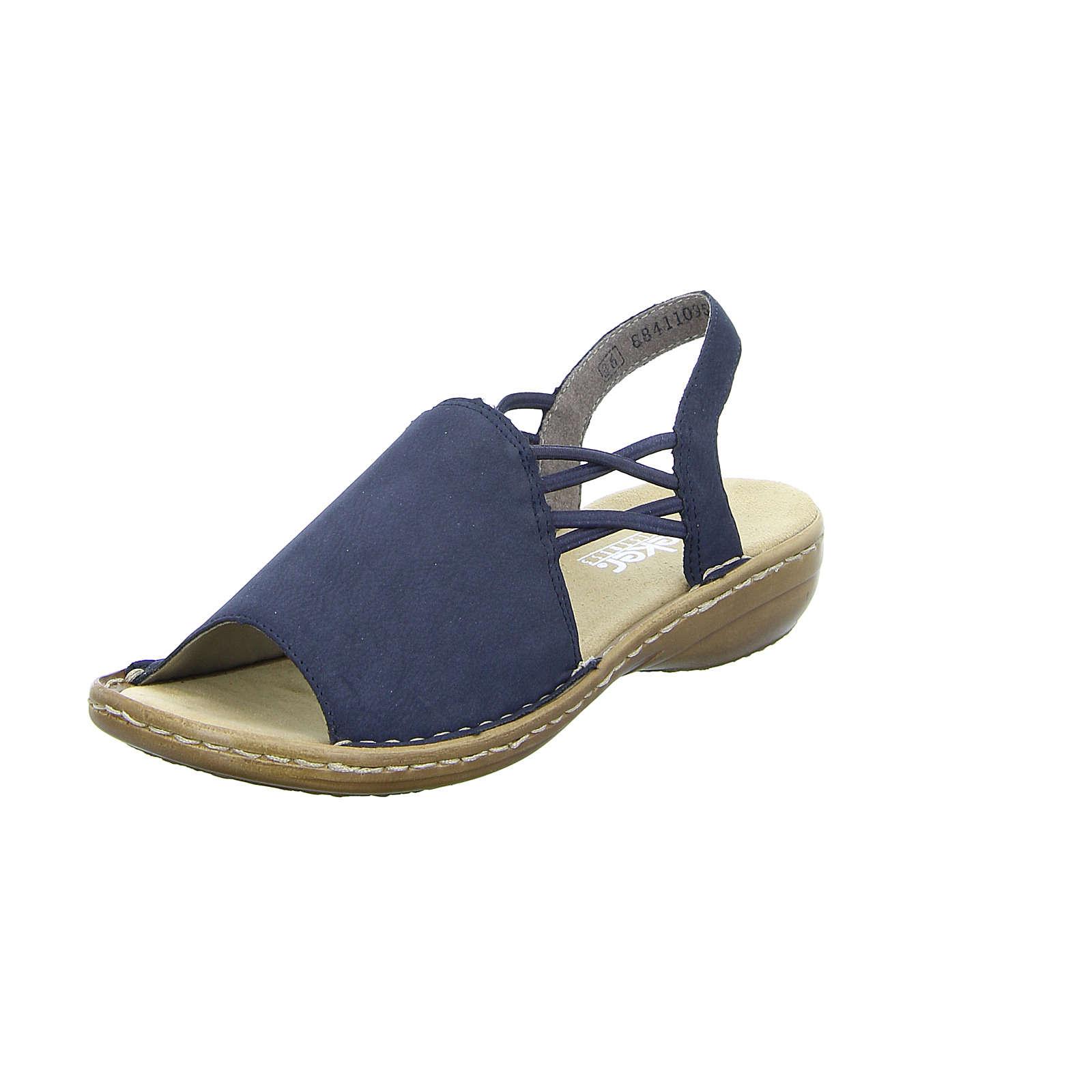 rieker Damen Sandale Regina 608 schwarz Damen Gr. 41