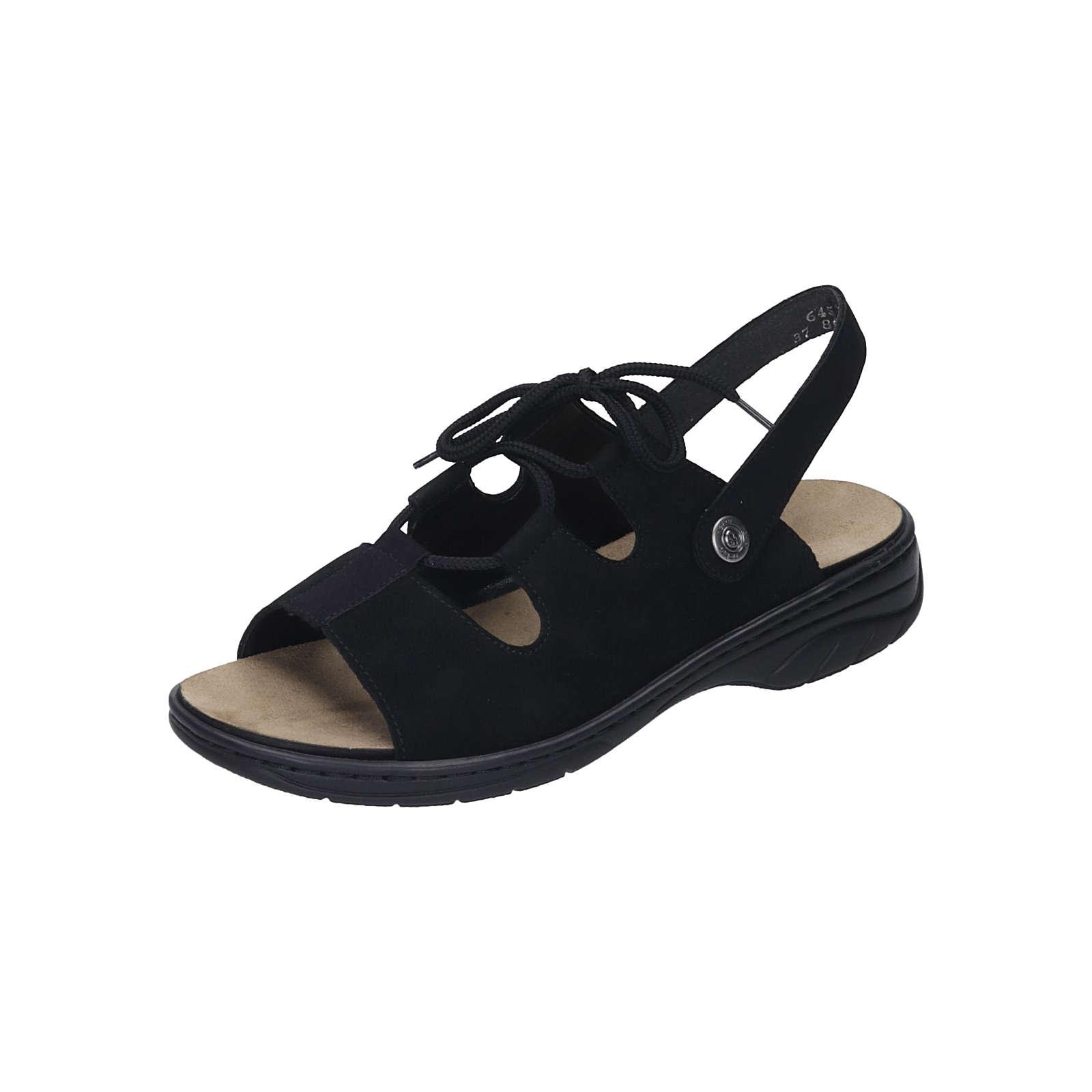 rieker Damen Sandalette Klassische Sandaletten schwarz Damen Gr. 37