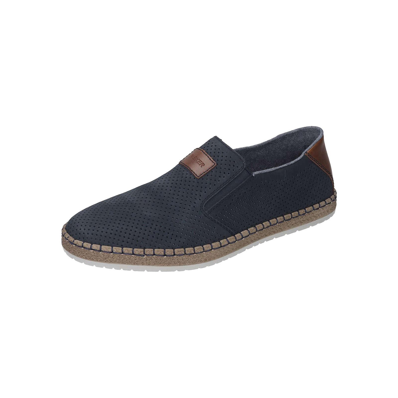 rieker herren slipper sportliche slipper blau herren gr 40. Black Bedroom Furniture Sets. Home Design Ideas