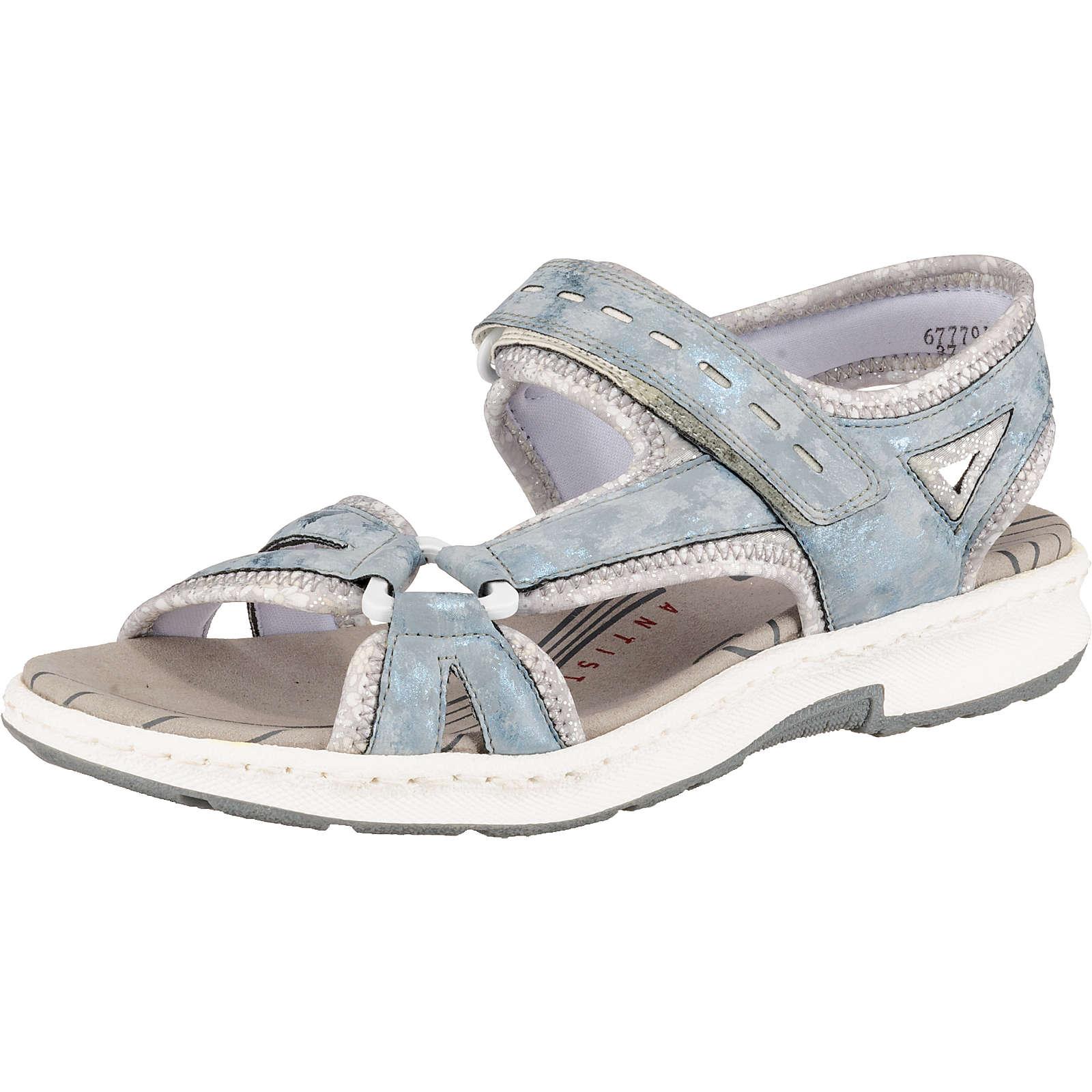 rieker Klassische Sandalen blau-kombi Damen Gr. 37