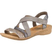 rieker Klassische Sandalen grau Damen Gr. 36