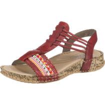 rieker Klassische Sandalen rot Damen Gr. 39