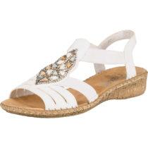 rieker Klassische Sandalen weiß Damen Gr. 36