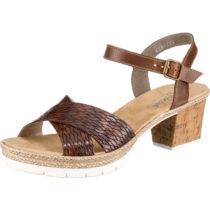 rieker Klassische Sandaletten braun Damen Gr. 40