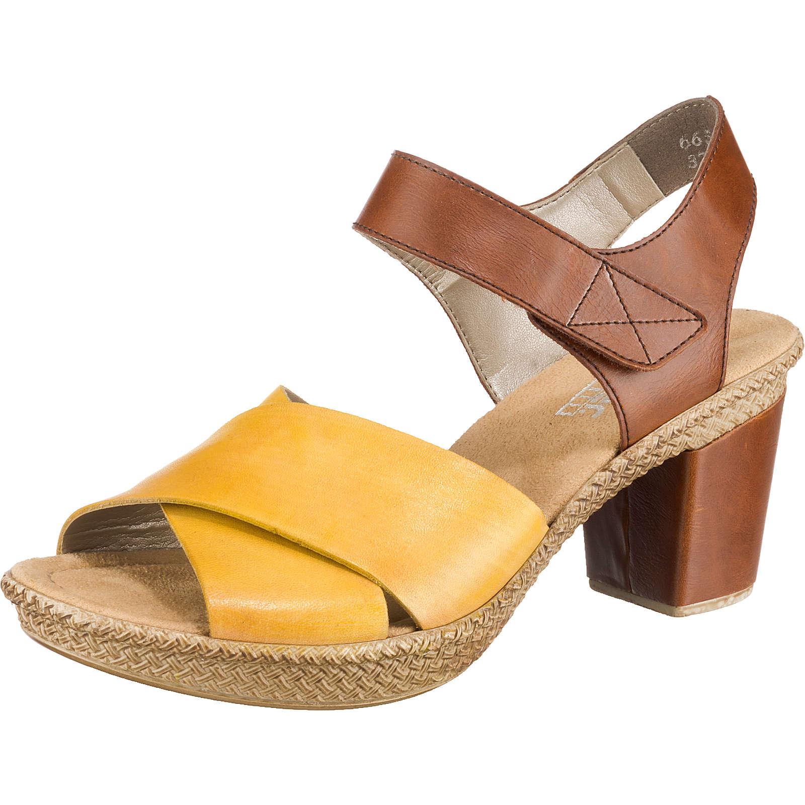 rieker Klassische Sandaletten gelb-kombi Damen Gr. 36