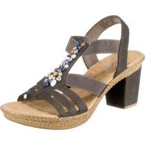 rieker Klassische Sandaletten grau Damen Gr. 37