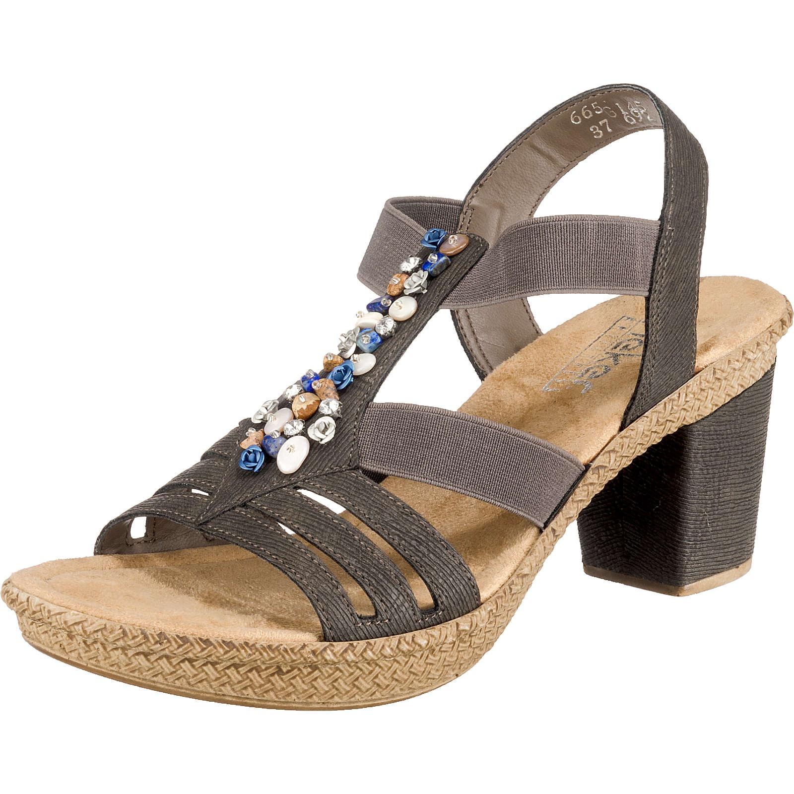 rieker Klassische Sandaletten grau Damen Gr. 36
