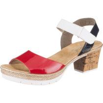 rieker Klassische Sandaletten rot-kombi Damen Gr. 40