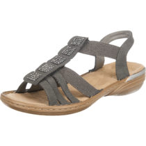 rieker Neapolis Komfort-Sandalen grau Damen Gr. 37