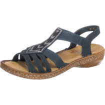 rieker New York Komfort-Sandalen blau Damen Gr. 36