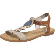 rieker New York/Ambor Komfort-Sandalen beige-kombi Damen Gr. 38