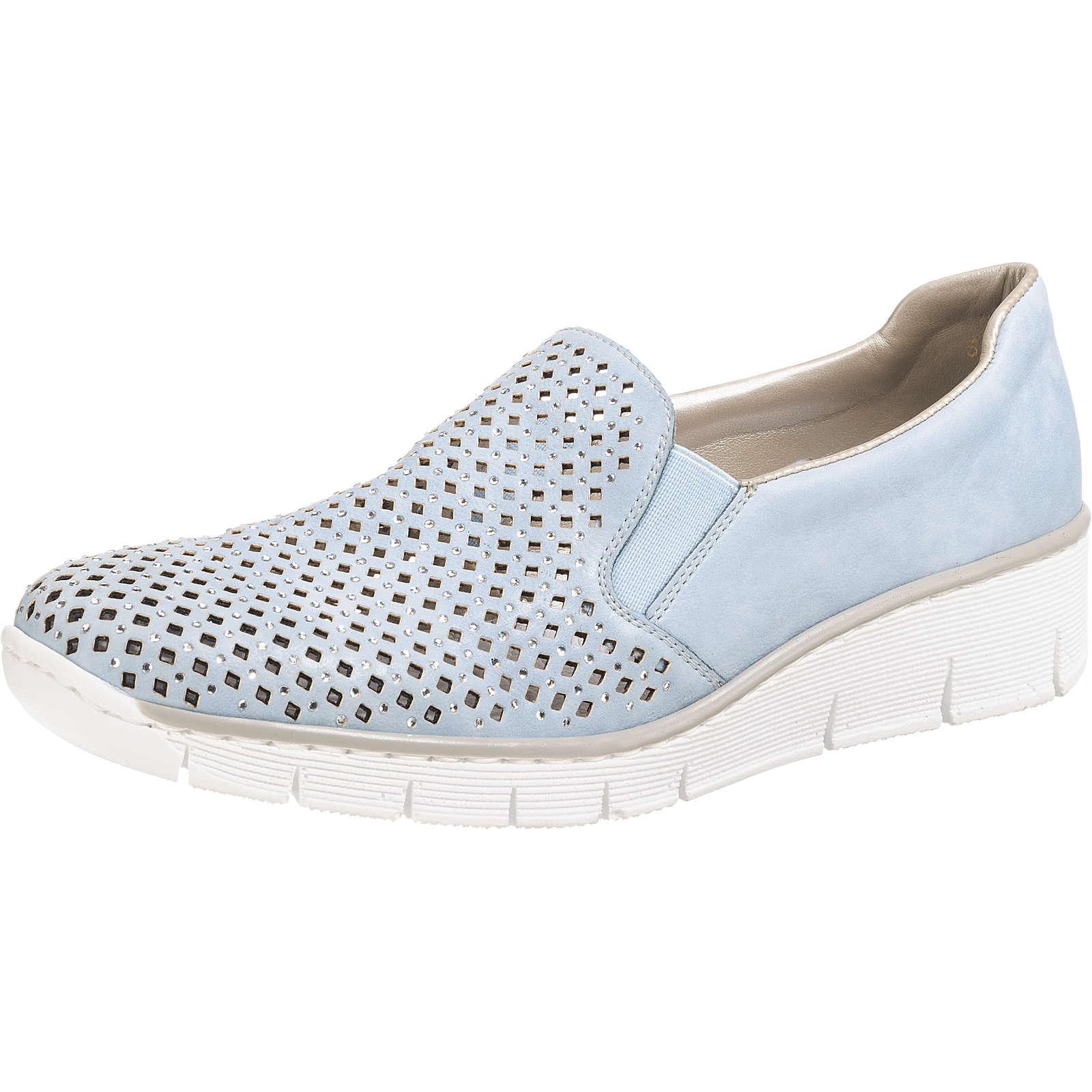 rieker Preston Slip-On-Sneaker blau Damen Gr. 41