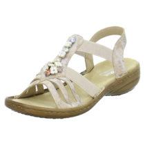 rieker Sandalen 60855 Klassische Sandaletten rosa Damen Gr. 36